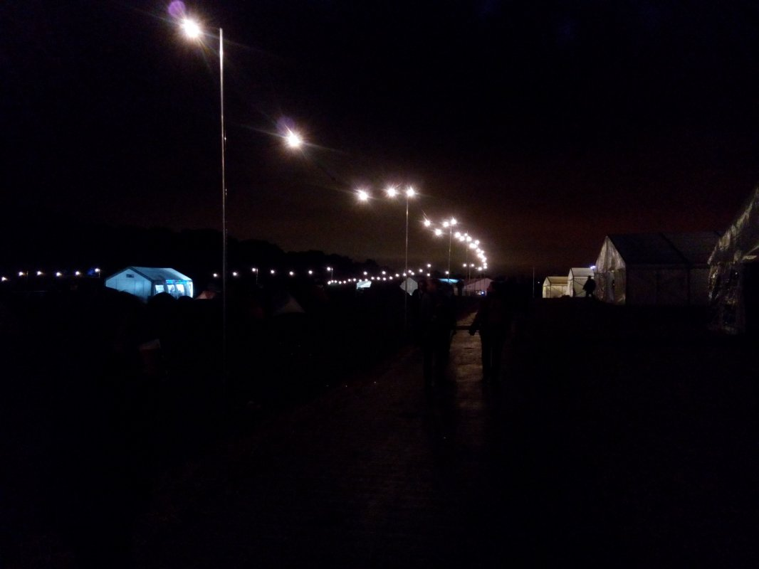 Camping site at nite 2