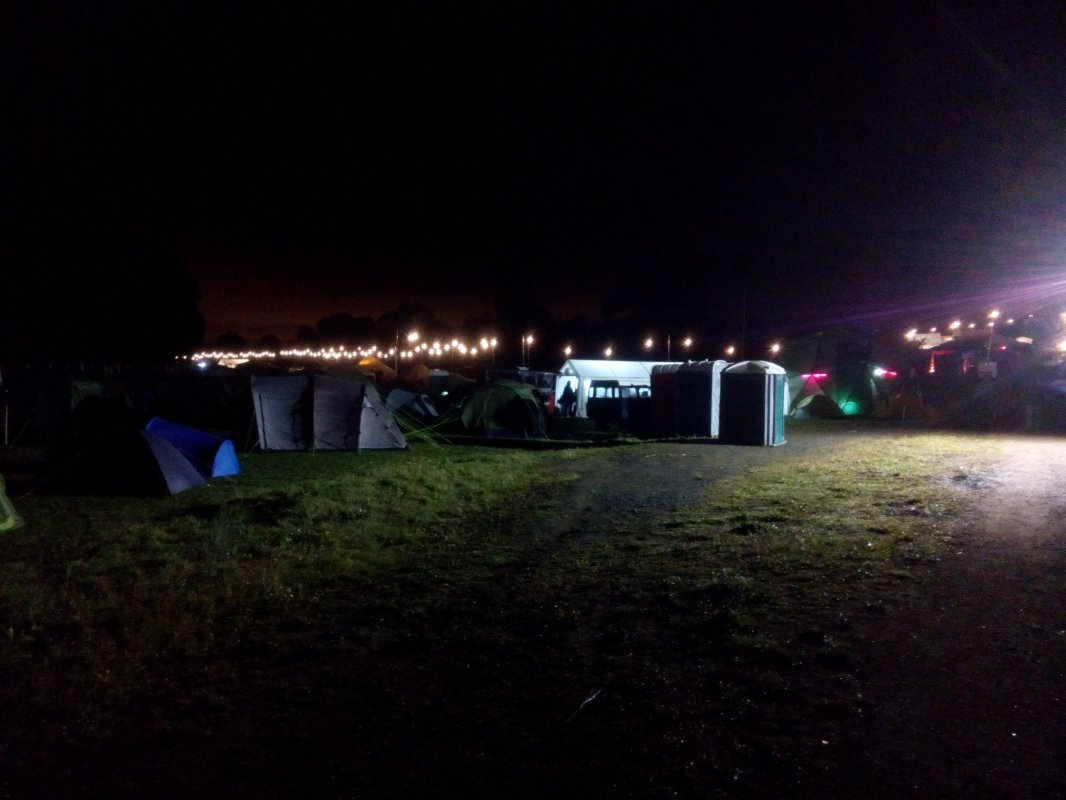 Camping site at nite 3