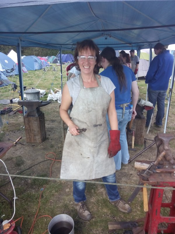 Andrea does Blacksmithing