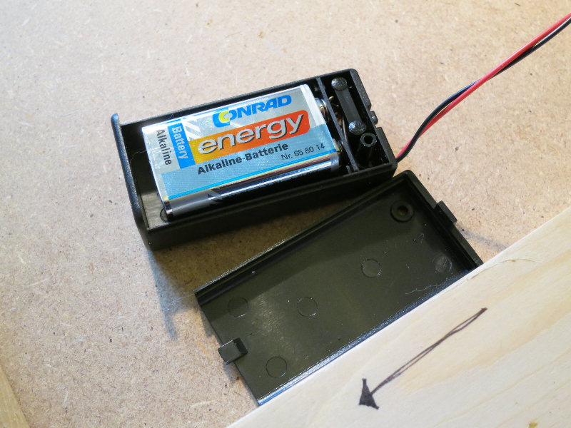 9 V battery location