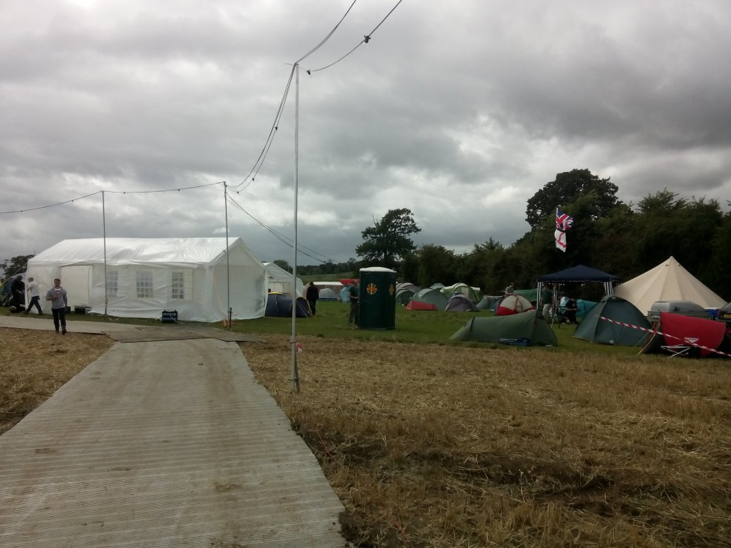 Chaotic festival view