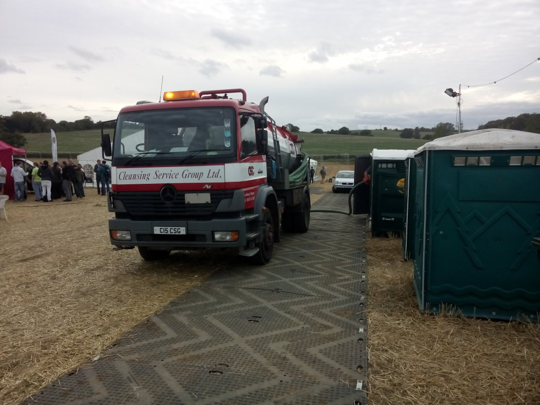 We had an overflow problem with the portaloo's on day 2