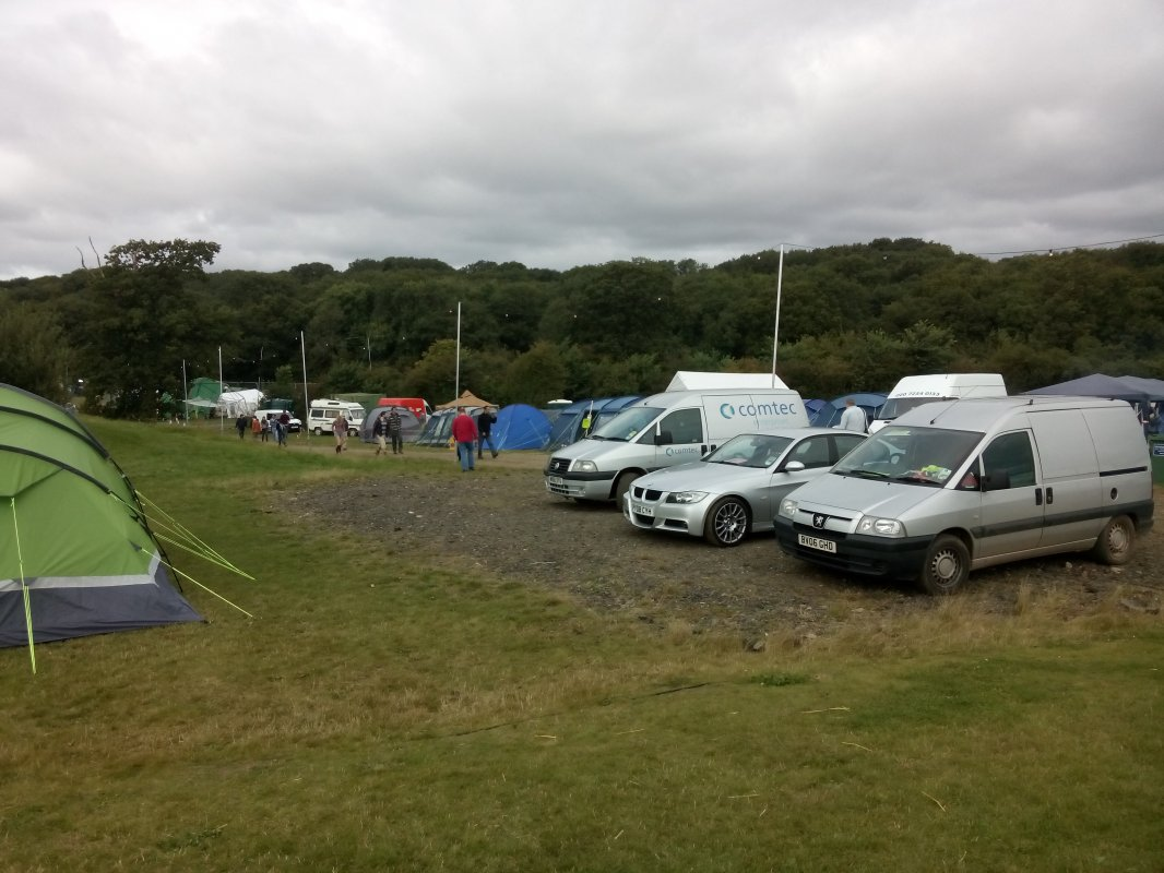 Festival site by day