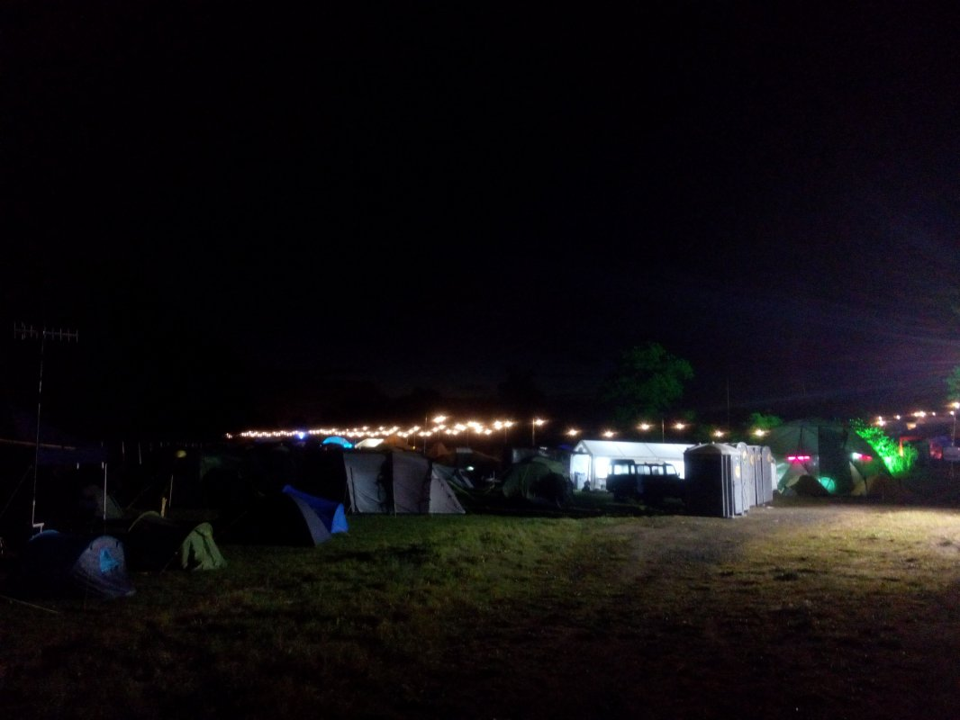 Blinkenlights at night.