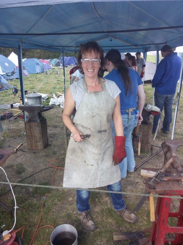Andrea does Blacksmithing