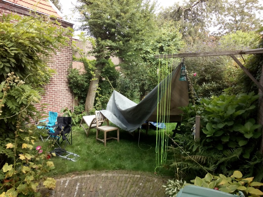 EMF gone, everything hanging out to dry at home
