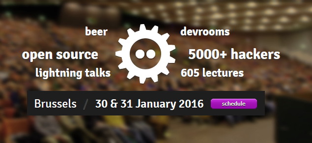 Screencapture from the FOSDEM home page